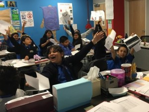 happy kids in a classroom